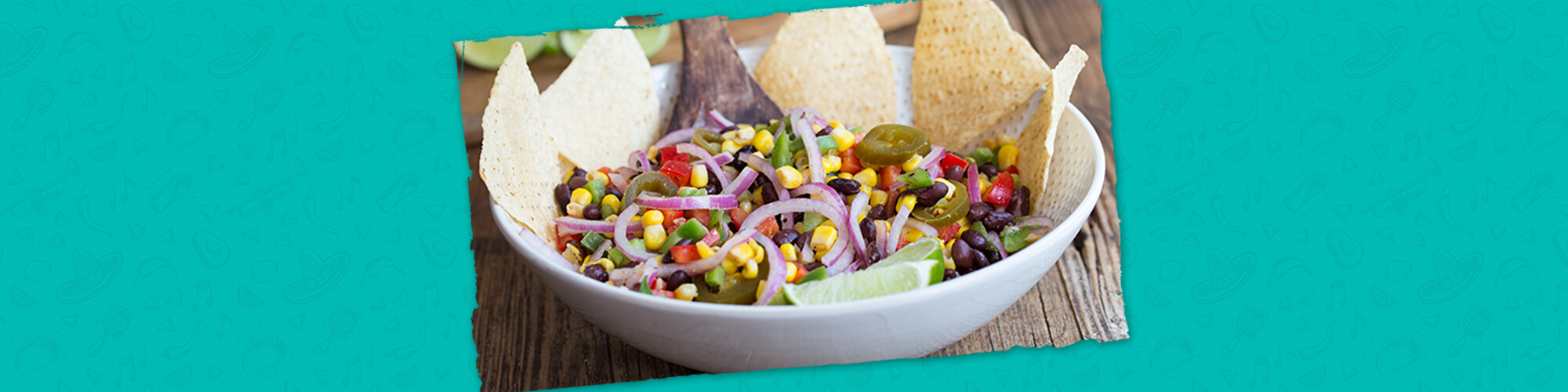 Salsas black bean and corn salad