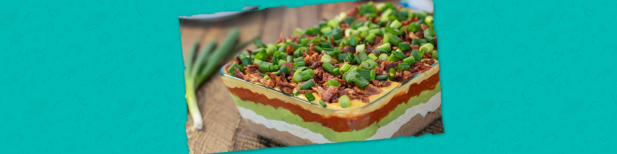 Salsas 7 layer dip with bacon