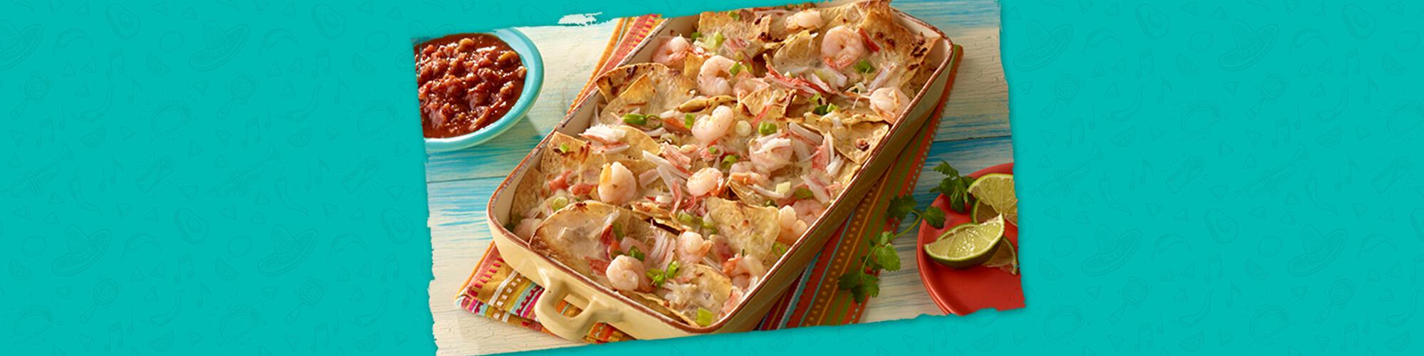 Salsas seafood nachos