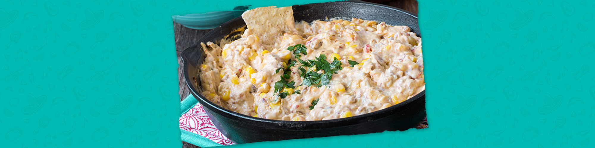 Salsas creamy corn and bacon quesadilla
