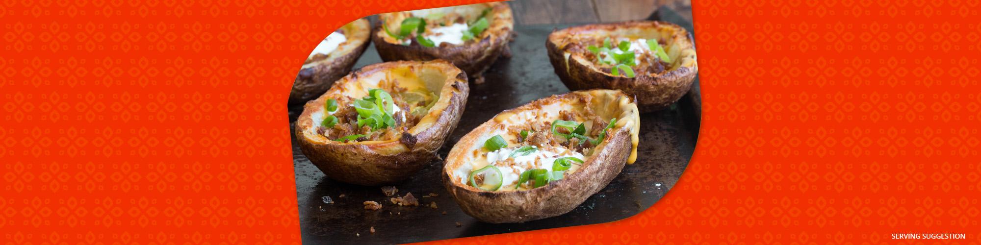 Salsas fiesta potato skins