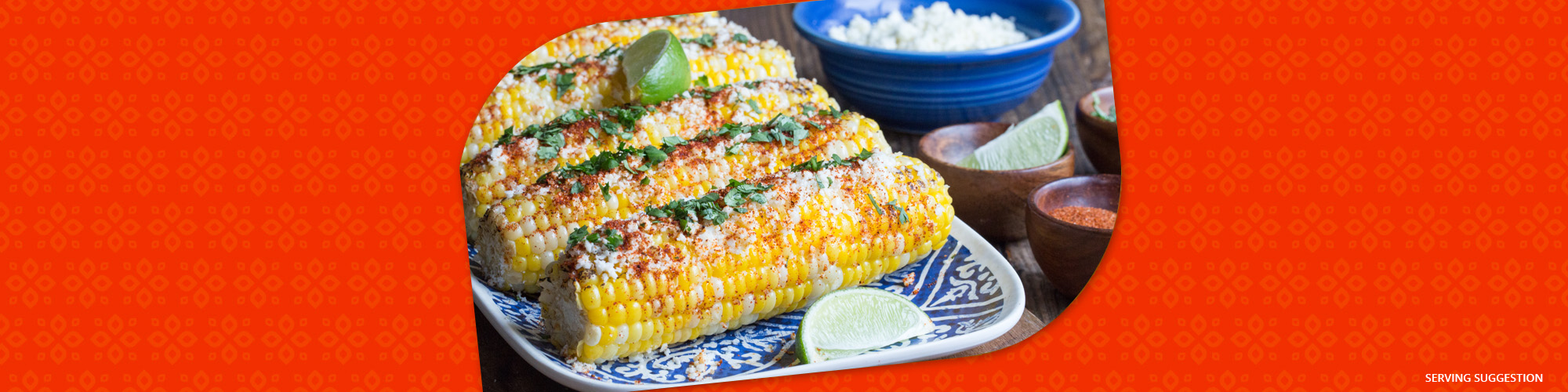 Salsas grilled corn on the cob