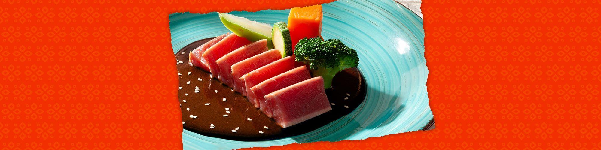Salsas seared tuna banner