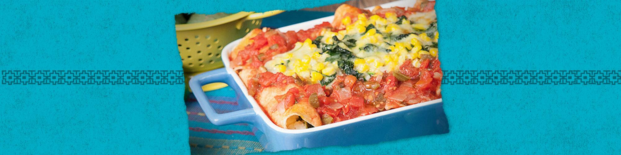 Salsas cheesy spinach enchiladas