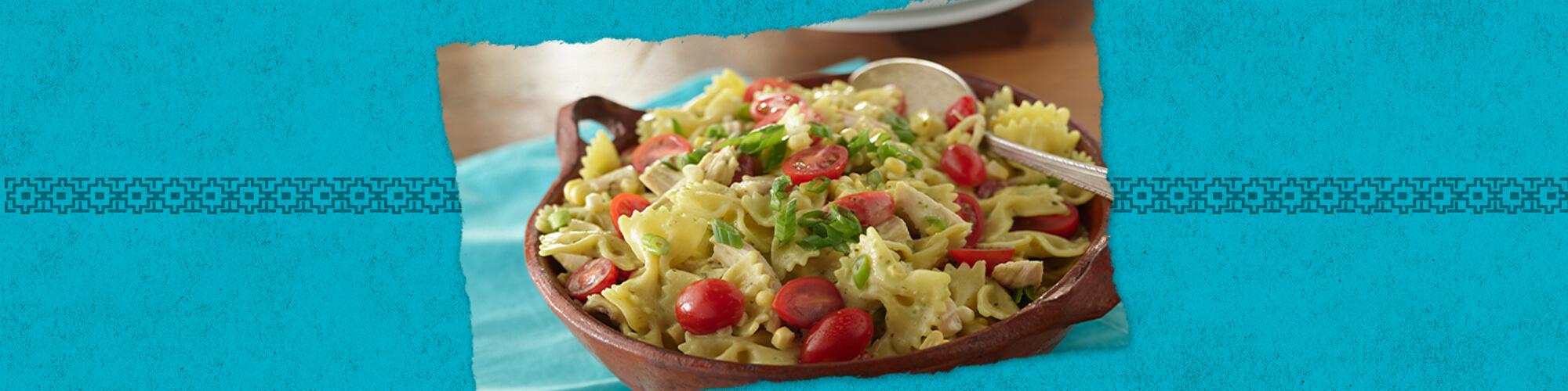 Salsas guacamole salsa pasta salad