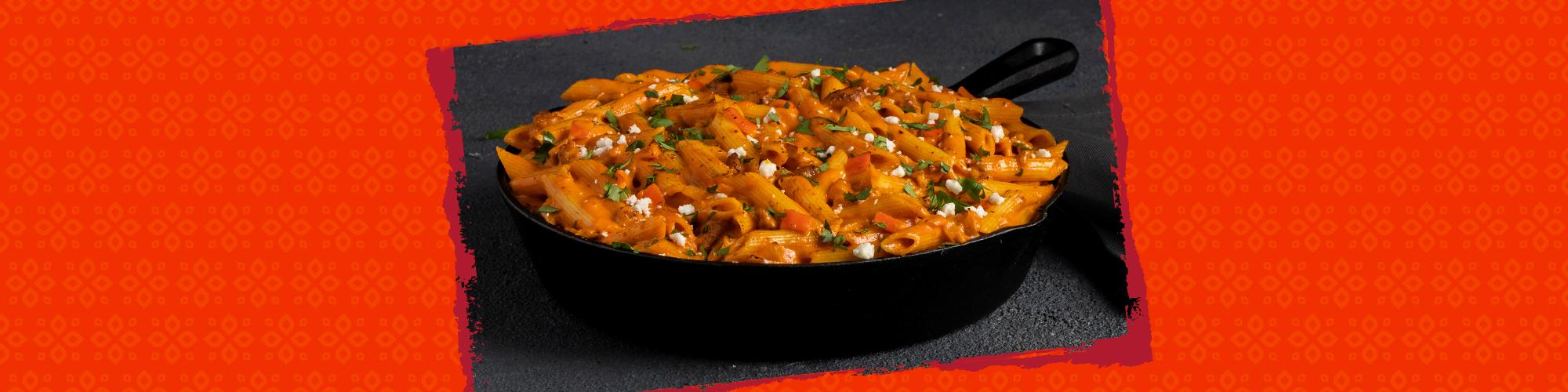 Salsas chipotle chorizo pasta