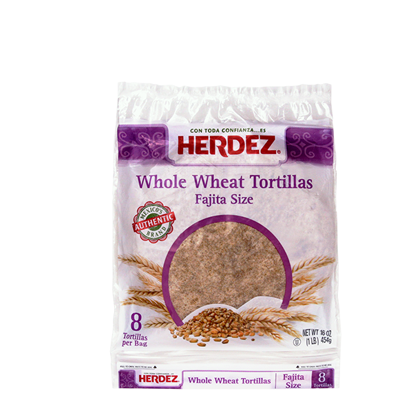 HERDEZ® Whole Wheat Flour Fajita Style Tortillas