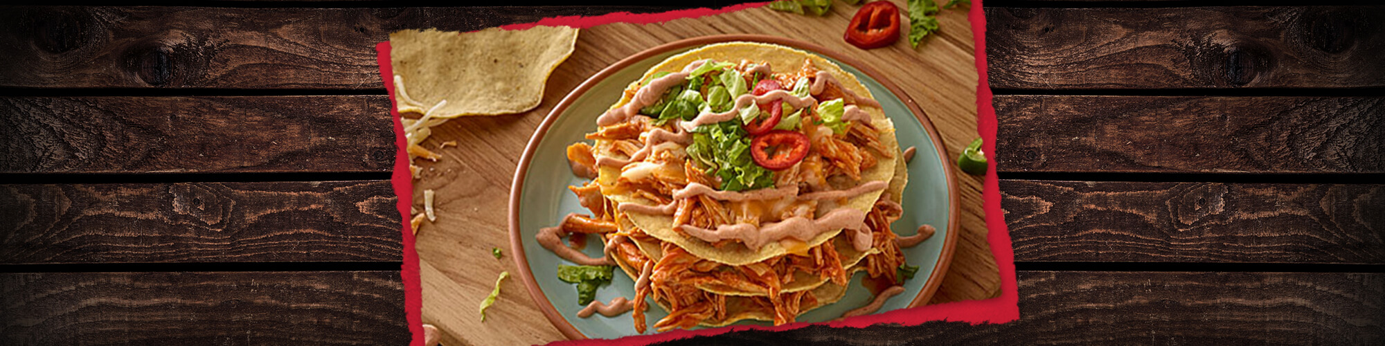 Salsas rotisserie chicken enchilada stack