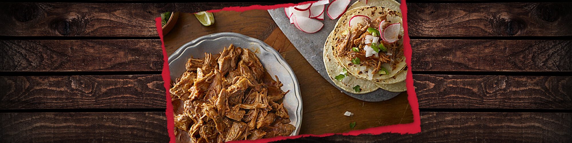Slow Cooker Pulled Pork Rojo Tacos