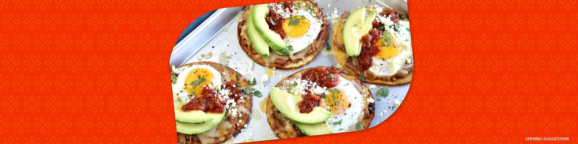 Salsas breakfast tostadas