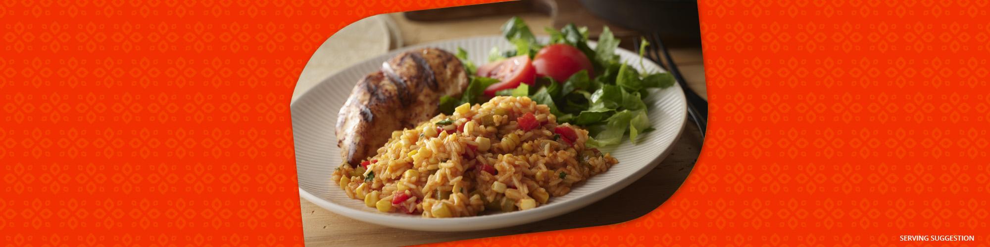 Salsas enchilada rice