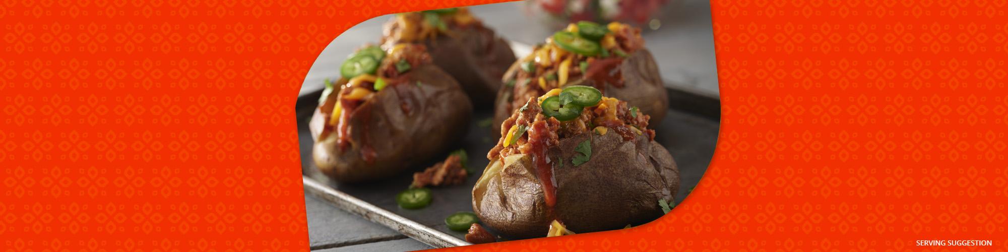 Salsas ground turkey enchilada stuffed baked potatoes