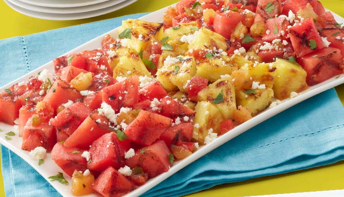 spicy grilled watermelon mange habanero chilled salad