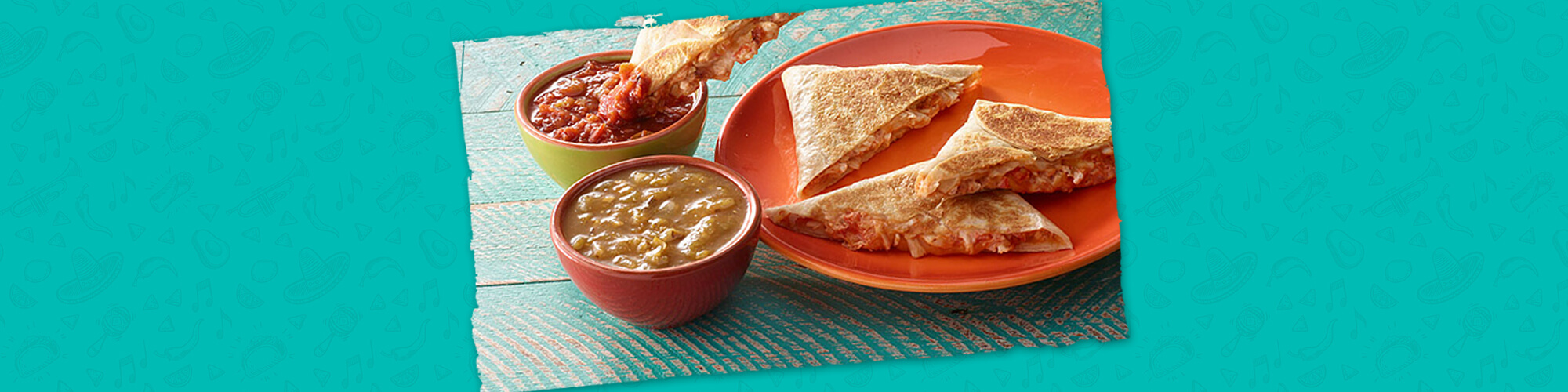 Salsas foldable chipotle chicken quesadilla