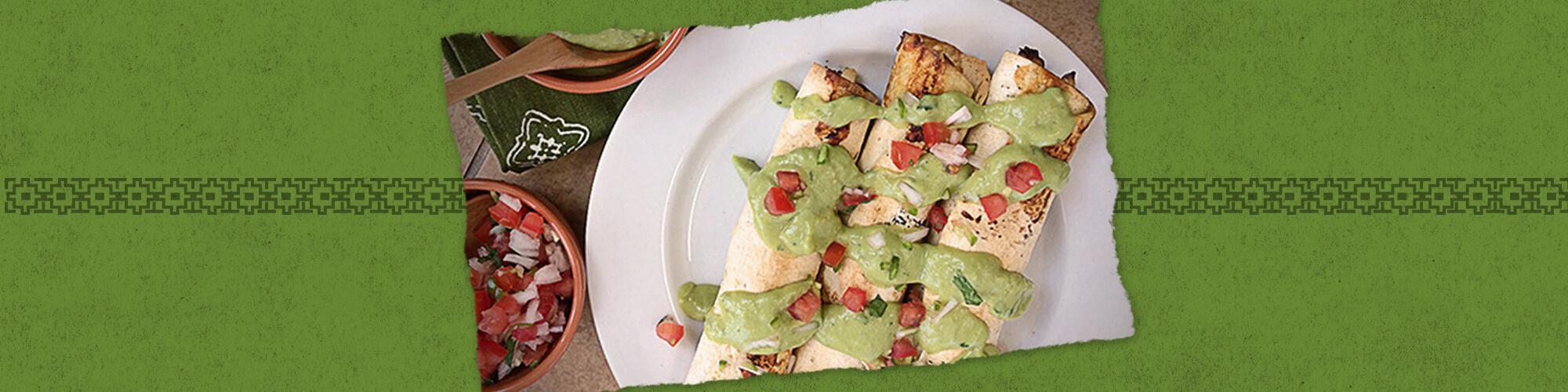 Salsas baked taquitos