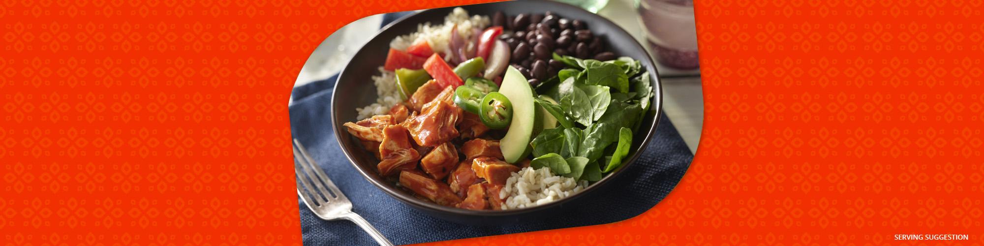 Salsas enchilada brown rice bowl