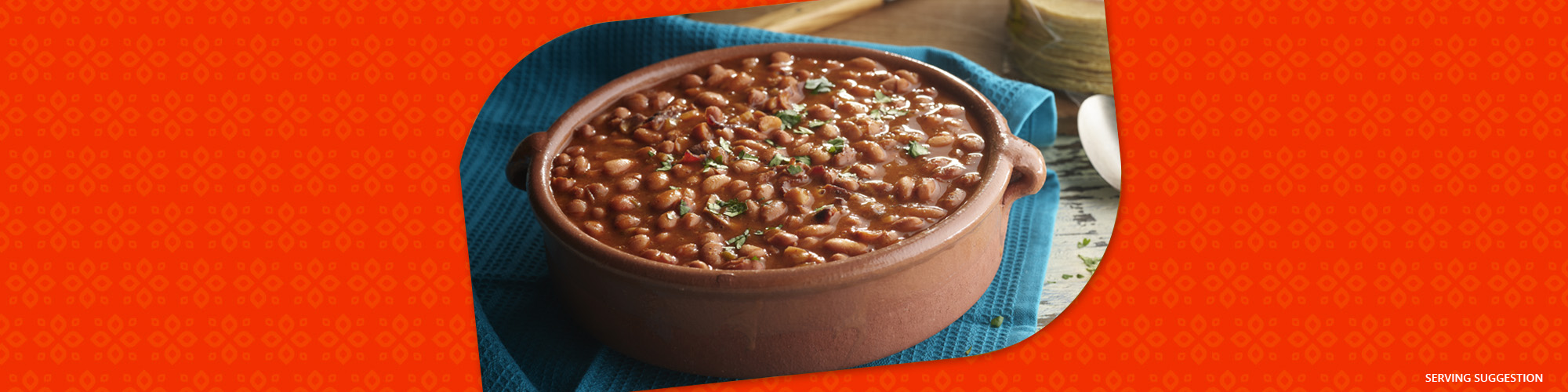 Salsas enchilada beans