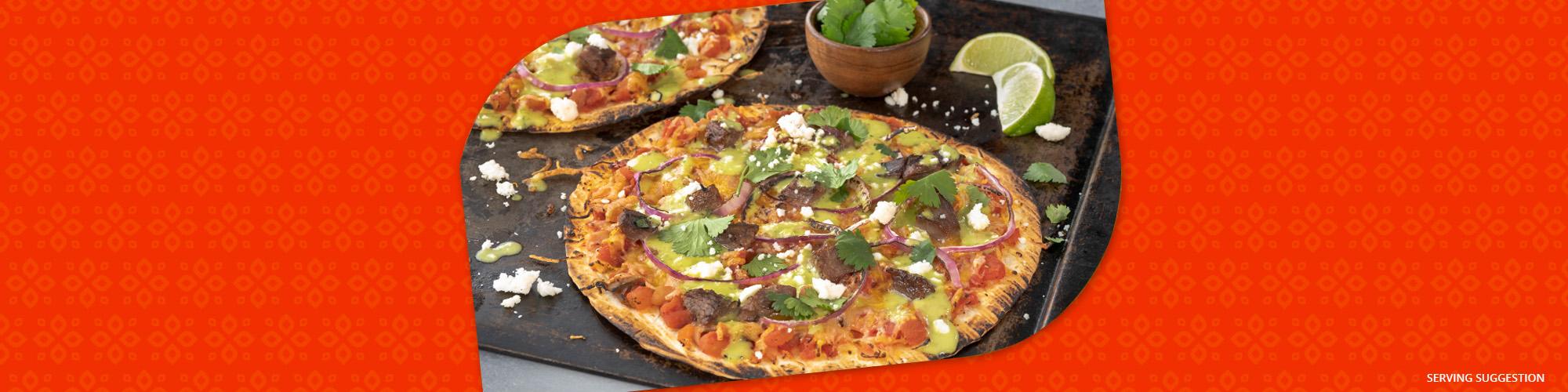 Salsas mexican homemade pizza