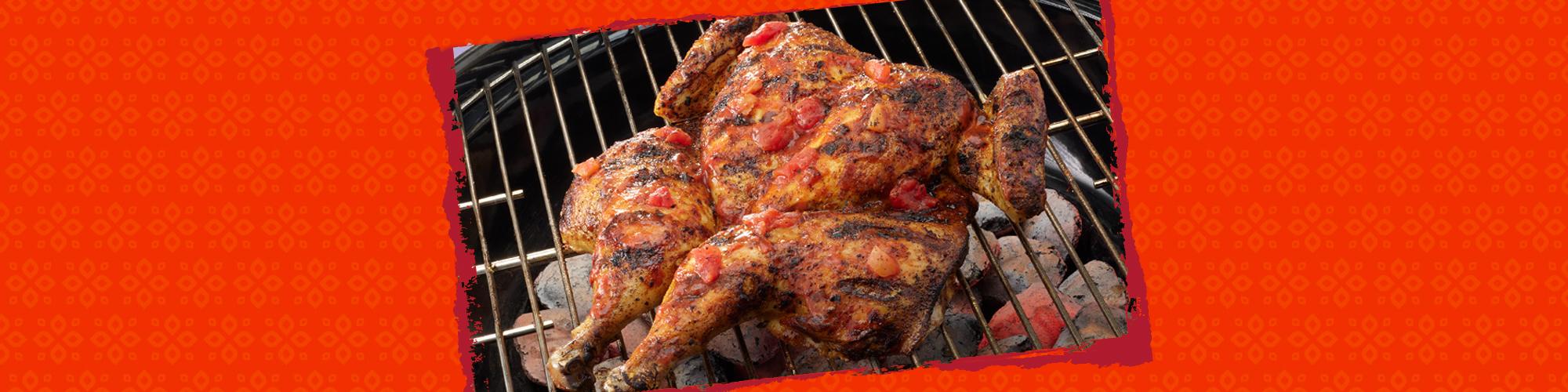 Salsas grilled spatchocked chicken